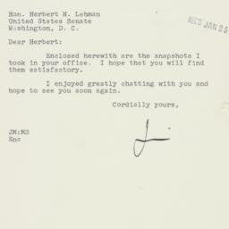 Letter : 1954 January 22