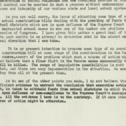 Telegram : 1956 February 15