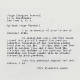 Letter : 1961 December 16