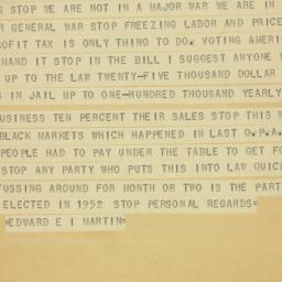 Letter : 1950 July 31