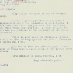 Letter : 1936 November 18