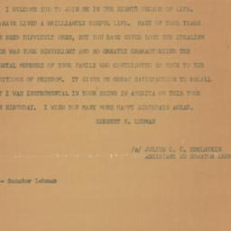 Letter : 1959 May 1