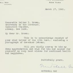 Letter : 1941 March 17