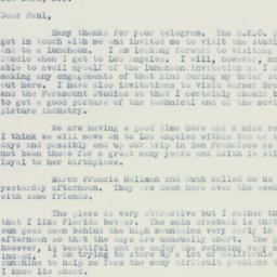 Letter : 1936 November 15
