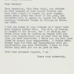 Letter: 1960 November 25
