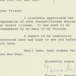 Letter: 1960 December 26