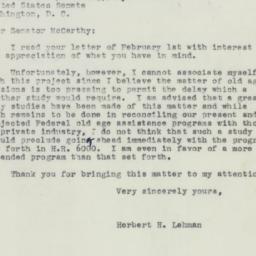 Letter : 1950 February 6