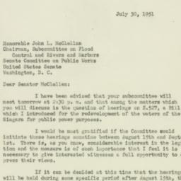 Letter : 1951 July 30