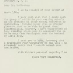 Letter : 1950 March 20