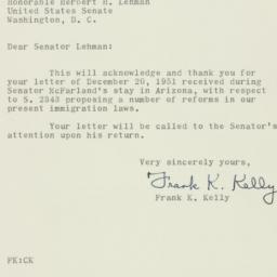 Letter : 1951 December 28