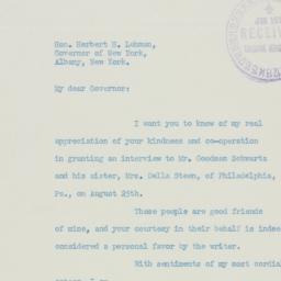 Letter : 1938 September 1