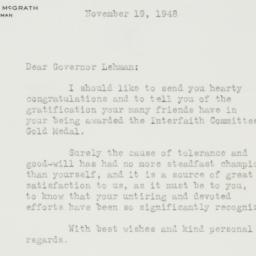 Letter : 1948 November 19