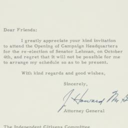Letter : 1950 October 3