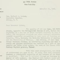 Letter : 1941 November 22