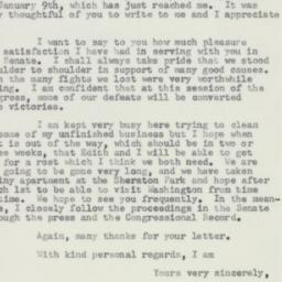 Letter : 1957 January 11