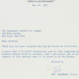Letter : 1960 May 24