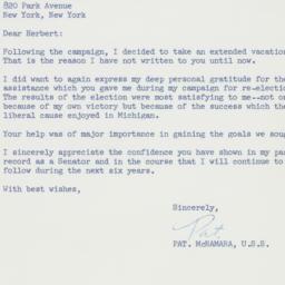 Telegram : 1960 December 21