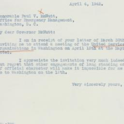 Letter: 1942 April 4