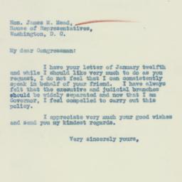 Letter : 1933 January 18