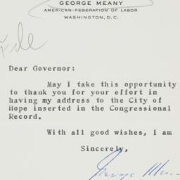 Letter : 1952 May 15