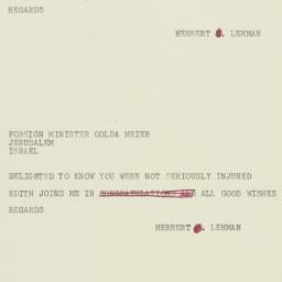 Telegram : 1957 October 31