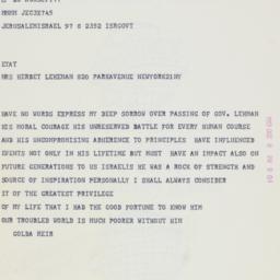 Telegram : 1963 December 8
