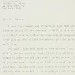 Letter : 1958 February 21