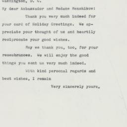 Letter : 1960 December 22
