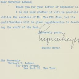 Letter: 1946 September 23