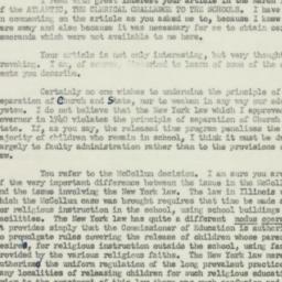Letter: 1952 April 10