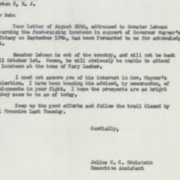 Letter : 1957 August 30