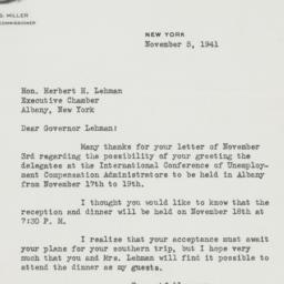 Letter : 1941 November 5
