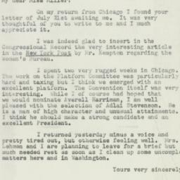 Letter : 1952 July 29