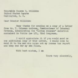 Letter : 1953 April 6