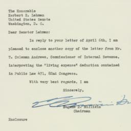 Letter : 1953 April 8