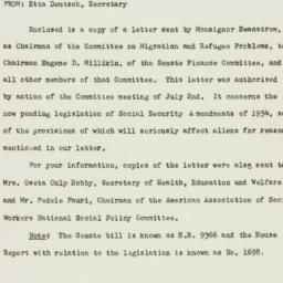 Memorandum : 1954 July 7