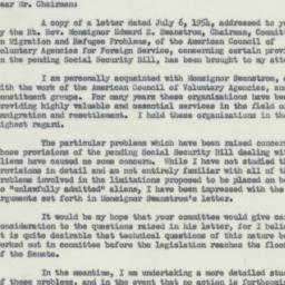 Letter : 1954 July 19