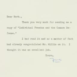 Letter : 1957 December 11