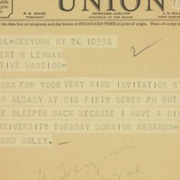 Telegram : 1935 September 26
