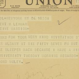Telegram: 1935 September 26