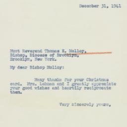 Letter : 1941 December 31