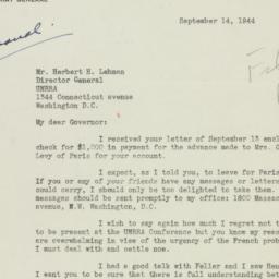 Letter : 1944 September 14