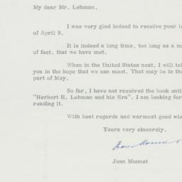 Letter : 1963 April 19