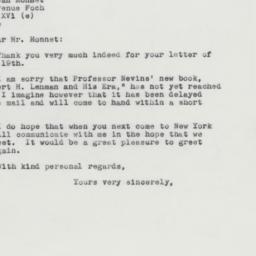 Letter : 1963 April 26