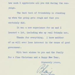 Letter: 1952 November 28