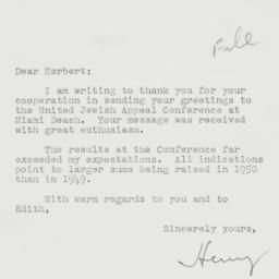 Letter : 1950 March 3