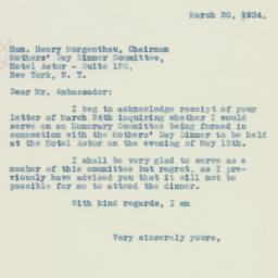 Letter : 1934 March 30