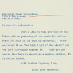 Letter : 1935 March 18
