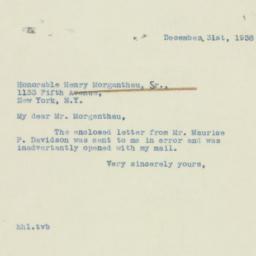 Letter : 1938 December 31