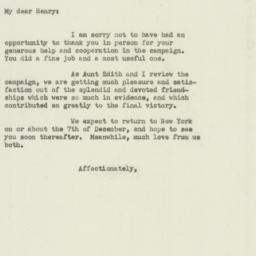 Letter : 1949 November 29